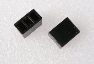 Knopf 15x8mm, Schwarz